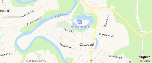 Речная улица на карте Садового хутора Адыгеи с номерами домов