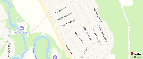 Березовая улица на карте Краснооктябрьского поселка Адыгеи с номерами домов