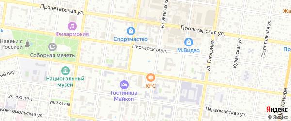 Тупиковая улица на карте Дружбы с номерами домов