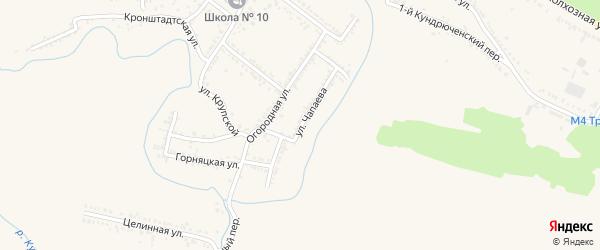 Улица Чапаева на карте Красного Сулина с номерами домов
