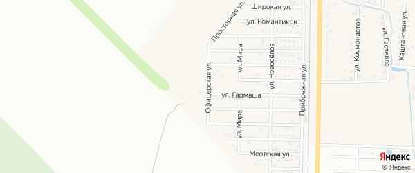 Офицерская улица на карте Северного поселка с номерами домов