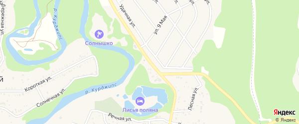 Садовая 2-я улица на карте Садового хутора Адыгеи с номерами домов