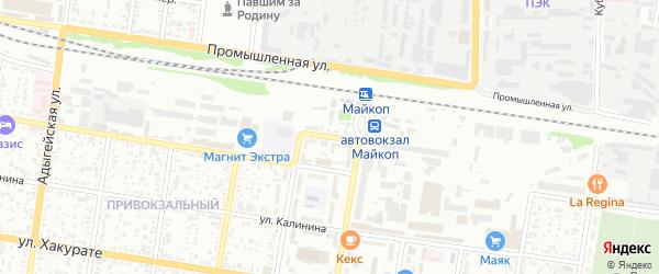 Вокзальный переулок на карте Майкопа с номерами домов
