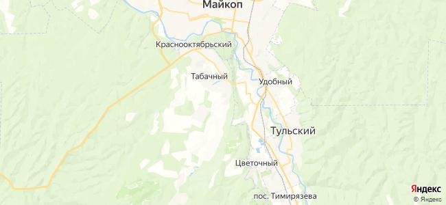 Красный Мост на карте