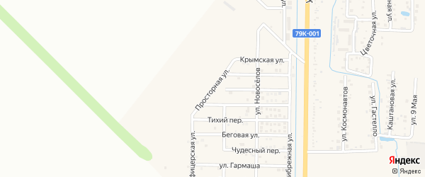 Просторная улица на карте Северного поселка с номерами домов