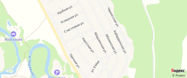 Бжедугская улица на карте Краснооктябрьского поселка Адыгеи с номерами домов