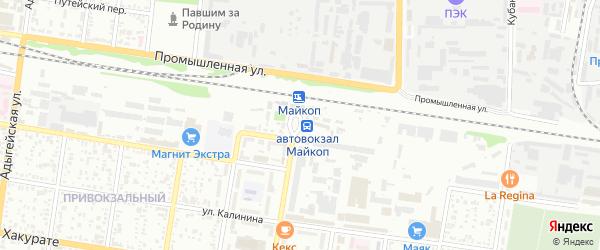 Привокзальная площадь на карте Майкопа с номерами домов