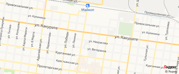 Территория днт Дружба на карте Майкопа с номерами домов