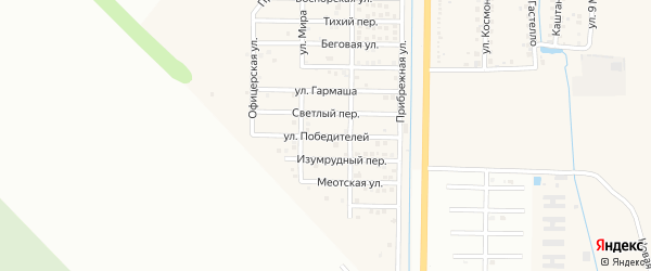 Улица Победителей на карте Северного поселка с номерами домов