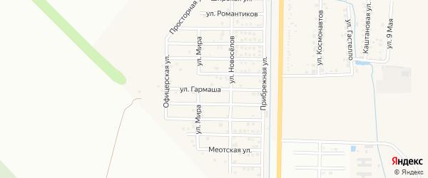 Улица им Гармаша на карте Северного поселка с номерами домов