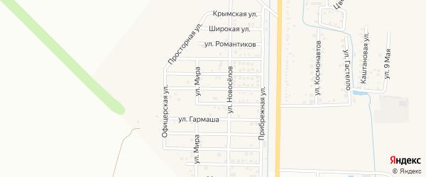 Беговая улица на карте Северного поселка с номерами домов
