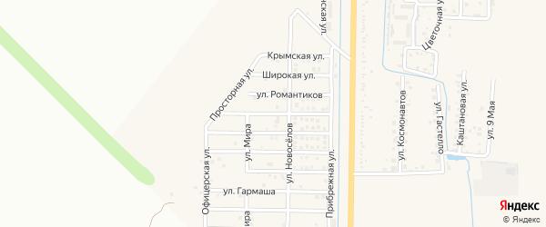 Боспорская улица на карте Северного поселка с номерами домов