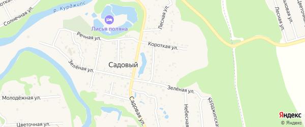 Советская улица на карте Садового хутора Адыгеи с номерами домов