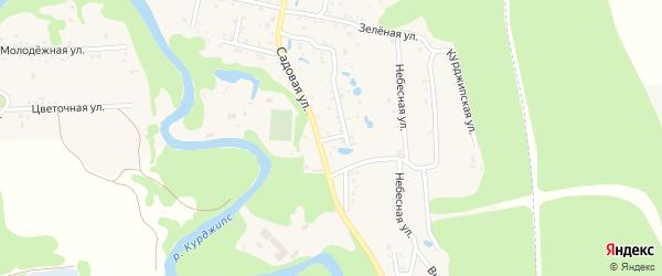 Родниковая улица на карте Садового хутора Адыгеи с номерами домов