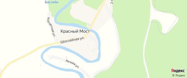 Новая улица на карте хутора Красного Моста Адыгеи с номерами домов