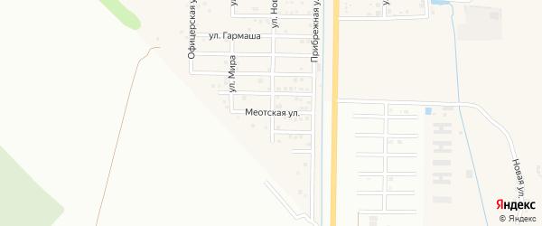 Меотская улица на карте Северного поселка с номерами домов
