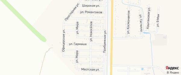 Чудесный переулок на карте Северного поселка с номерами домов