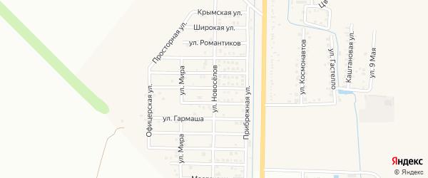 Улица Новоселов на карте Северного поселка с номерами домов