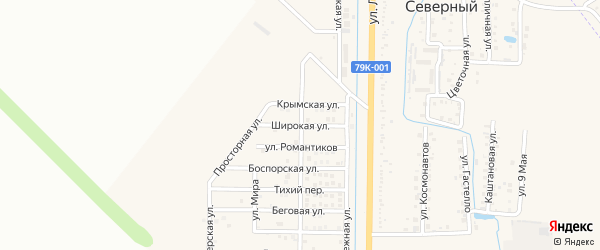 Широкая улица на карте Северного поселка с номерами домов