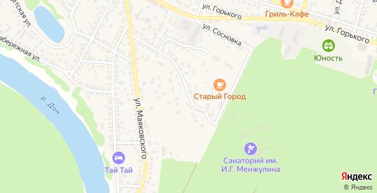 Санаторная улица в Павловске с номерами домов на карте. Спутник и схема онлайн