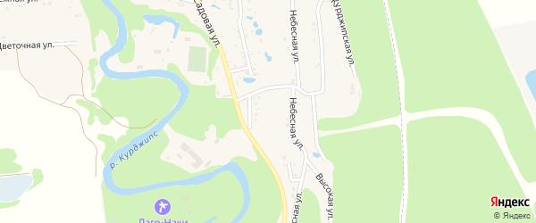 Лучистая улица на карте Садового хутора Адыгеи с номерами домов