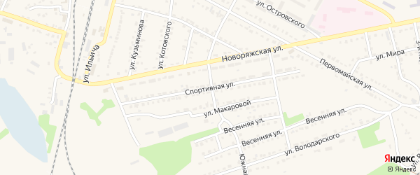 Спортивная улица на карте Ряжска с номерами домов