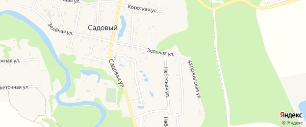 Восточный переулок на карте Садового хутора Адыгеи с номерами домов