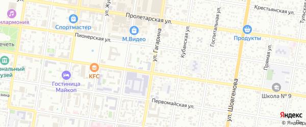 Улица Гагарина на карте Майкопа с номерами домов