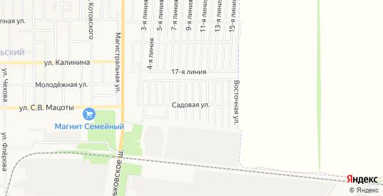 Карта поселка Виноградная Лоза в Новочеркасске с улицами, домами и почтовыми отделениями со спутника онлайн