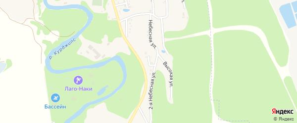 Южный переулок на карте Садового хутора Адыгеи с номерами домов
