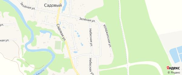 Небесная улица на карте Садового хутора Адыгеи с номерами домов