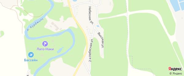 2-я Небесная улица на карте Садового хутора с номерами домов