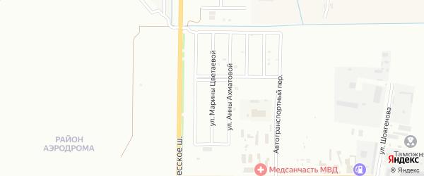 Улица М.Цветаевой на карте Майкопа с номерами домов