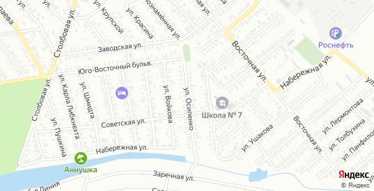 Улица Осипенко в Тихорецке с номерами домов на карте. Спутник и схема онлайн