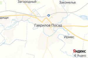 Карта г. Гаврилов Посад Ивановская область