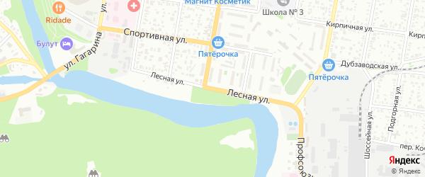 Лесная улица на карте Южного с номерами домов