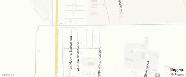 Улица В.Высоцкого на карте Майкопа с номерами домов