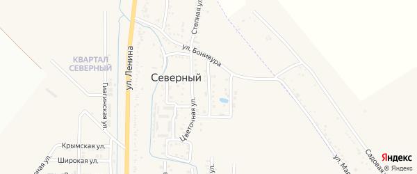 Тепличная улица на карте Северного поселка с номерами домов