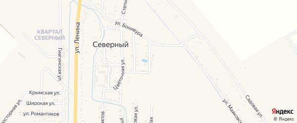 Абрикосовая улица на карте Северного поселка с номерами домов