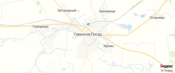 Карта Гаврилова Посада с районами, улицами и номерами домов