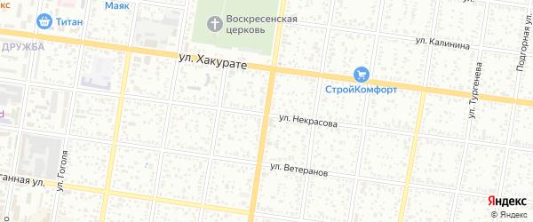 Улица Шовгенова на карте Майкопа с номерами домов
