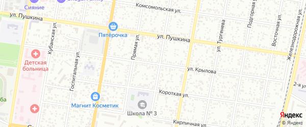 Улица Крылова на карте Майкопа с номерами домов