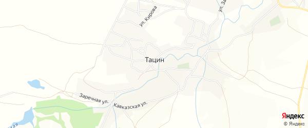 Карта хутора Тацина в Ростовской области с улицами и номерами домов
