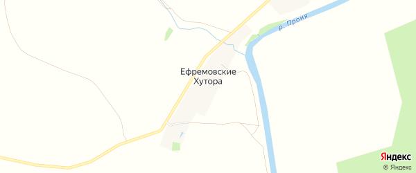 Карта деревни Ефремовские Хутора в Рязанской области с улицами и номерами домов