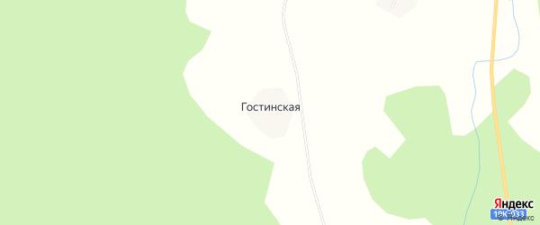 Карта Гостинской деревни в Вологодской области с улицами и номерами домов