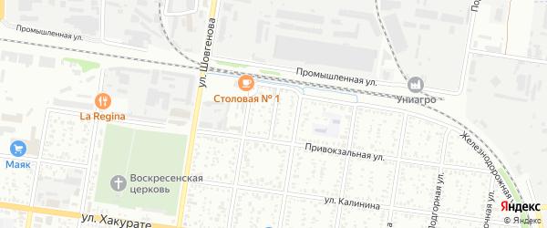 Строительный переулок на карте Майкопа с номерами домов
