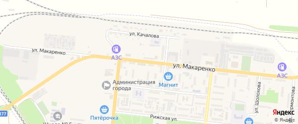 Улица Макаренко на карте Зверево с номерами домов