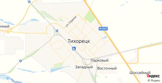 Карта Тихорецка с улицами и домами подробная. Показать со спутника номера домов онлайн