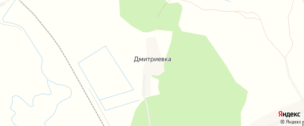 Карта деревни Дмитриевки в Рязанской области с улицами и номерами домов