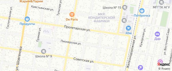 Улица Тургенева на карте Майкопа с номерами домов
